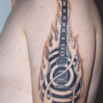 Guitar Tattoos 6 150x150 - Guitar Tattoos Design Ideas Pictures Gallery