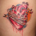 Heart Tattoos 7 150x150 - Heart Tattoos Design Ideas Pictures Gallery