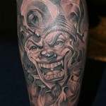 Joker Tattoos 11 150x150 - Joker Tattoos Design Ideas Pictures Gallery