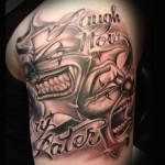 Joker Tattoos 12 150x150 - Joker Tattoos Design Ideas Pictures Gallery