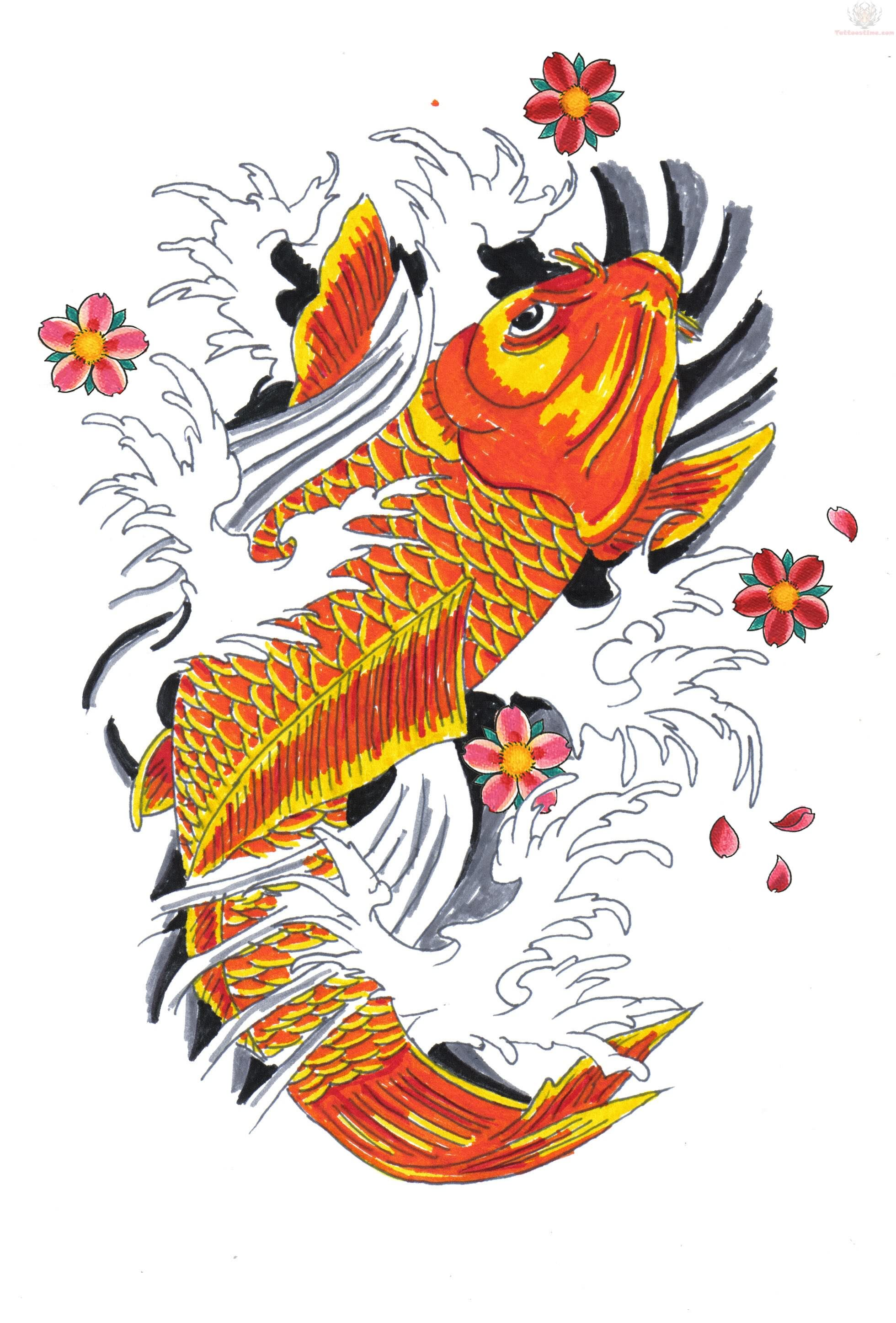 Koi tattoos design ideas pictures gallery for Koi fish tattoo designs