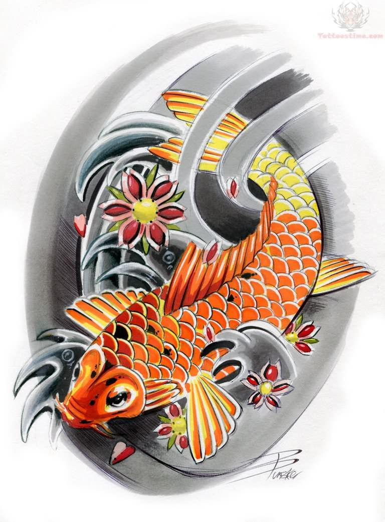 Koi tattoos design ideas pictures gallery for Japanese koi design