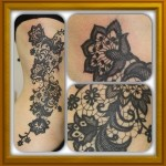 Lace Tattoos 12 150x150 - Lace Tattoos Design Ideas Pictures Gallery
