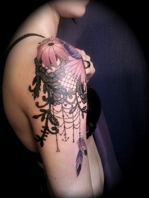 Lace Tattoos Design Ideas Pictures Gallery