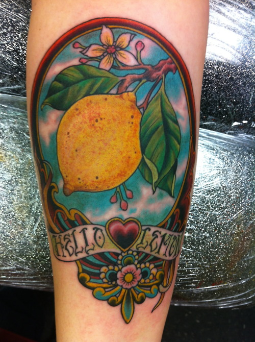 Lemon Tattoos Design Ideas Pictures Gallery