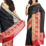 Stunning Black Pure Dupion Silk Saree SAVPT1223 u 150x150 - Banarasi Saree Design Ideas Pictures Gallery