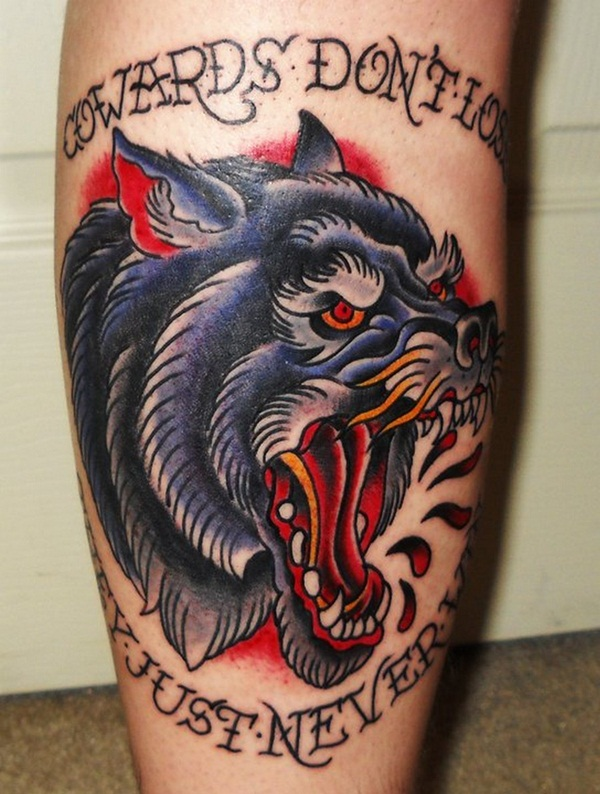 Wolf tattoos design ideas pictures gallery for Wolf tattoo traditional