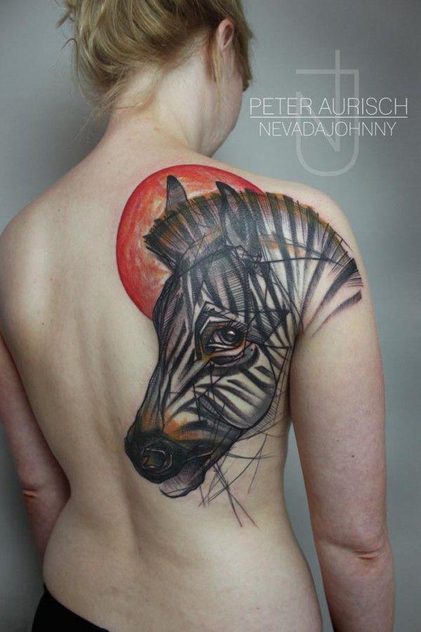 Zebra Print Tattoo Designs