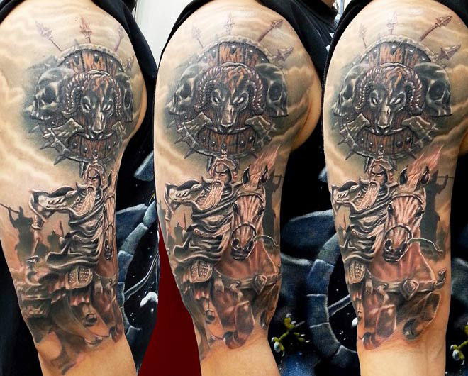 Warrior Tattoos Design Ideas Pictures Gallery
