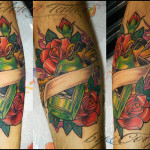 bottle in roses by molotov tattoo d57f1gg 150x150 - Bottle Tattoos Design Ideas Pictures Gallery