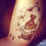 clouds and bottle tattoos 150x150 - Bottle Tattoos Design Ideas Pictures Gallery