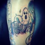 ghost tattoo 7 150x150 - Ghost Tattoos Design Ideas Pictures Gallery