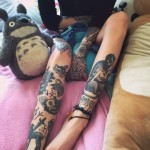 leg7 150x150 - 100's of Leg Tattoo Design Ideas Picture Gallery