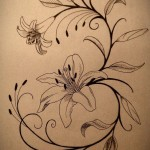 lilly tattoos 5 150x150 - Lilly Tattoos Design Ideas Pictures Gallery