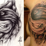 living yinyang tattoo by mekhz 150x150 - Yin Yang Tattoos Design Ideas Pictures Gallery