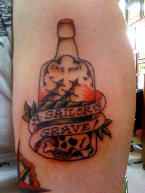 Bottle Tattoos Design Ideas Pictures Gallery