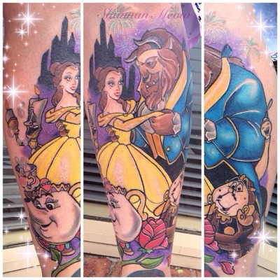 Beauty And The Beast Tattoos Design Ideas Pictures Gallery