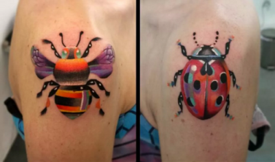 Bee Tattoos Design Ideas Pictures Gallery