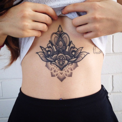 100's of Waist Tattoo Design Ideas Picture Gallery