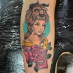 beauty and the beast tattoo