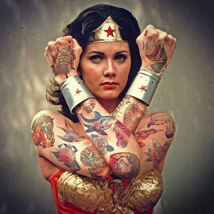 Wonder Woman Tattoos Design Ideas Pictures Gallery