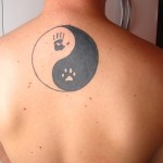yin yang tattoo on upperback 150x150 - Yin Yang Tattoos Design Ideas Pictures Gallery
