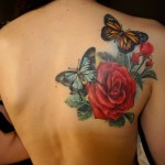 35 Rose Tattoo 600x446 150x150 - 100's of Rose Tattoo Design Ideas Picture Gallery