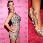 Adriana Lima has tribal design shooting star tattooed 150x150 - 100's of Adriana Lima Tattoo Design Ideas Picture Gallery