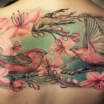 Birds Across Back Tattoo 672x372 150x150 - 100's of Back Tattoo Design Ideas Picture Gallery