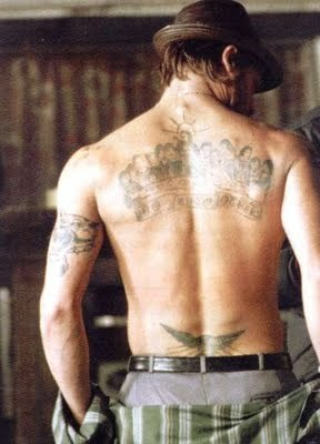 100's of Brad Pitt Tattoo Design Ideas Picture Gallery