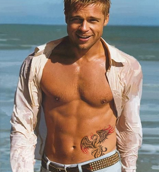 Brad Pitt Tattoos 9 - 100's of Brad Pitt Tattoo Design Ideas Picture Gallery