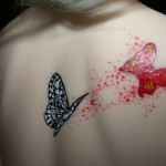 Cute 3D Butterfly Tattoo on Back 150x150 - 100's of Butterfly Tattoo Design Ideas Picture Gallery
