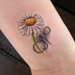 Daisy Tattoos 8 150x150 - 100's of Daisy Tattoo Design Ideas Picture Gallery