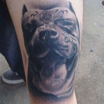 Dog Tattoos 8 150x150 - 100's of Dog Tattoo Design Ideas Picture Gallery
