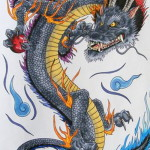 Dragon Japanese Tattoo Designs 150x150 - 100's of Japases Tattoo Design Ideas Picture Gallery