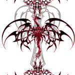 Dragon Tattoo Vinyl by VeXiiNo 150x150 - 100's of Dragon Tattoo Design Ideas Picture Gallery