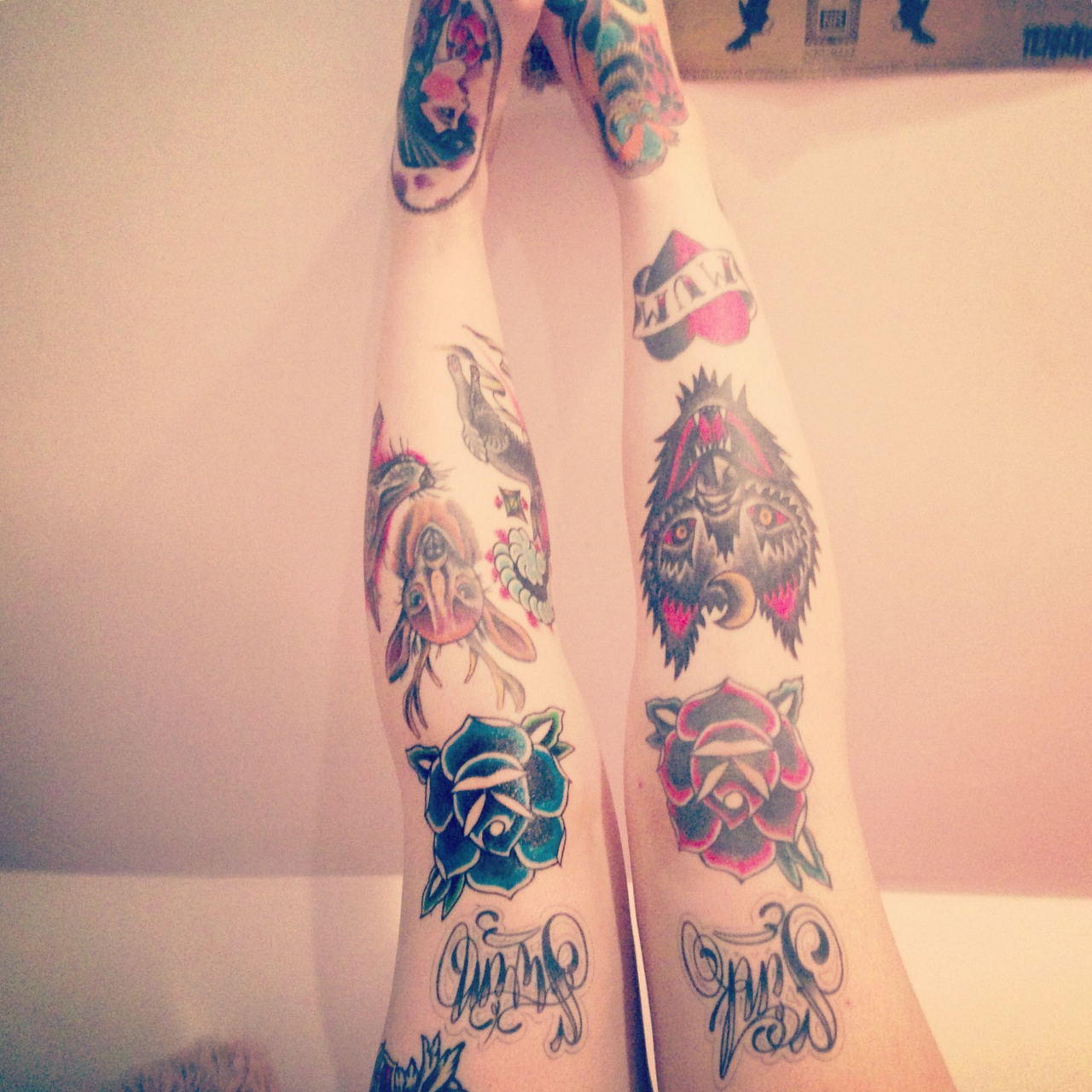 100's Of Knee Tattoo Design Ideas Picture Gallery