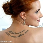 Evan Rachel Wood back tattoo meaning 150x150 - 100's of Alyssa Milano Tattoo Design Ideas Picture Gallery