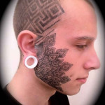 Face Tattoos 61 150x150 - 100's of Face Tattoo Design Ideas Picture Gallery