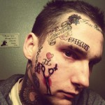 Face Tattoos 71 150x150 - 100's of Face Tattoo Design Ideas Picture Gallery