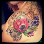 Flower Tattoos 11 150x150 - 100's of Flower Tattoo Design Ideas Picture Gallery