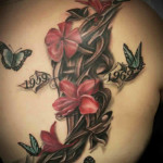 Flower Tattoos 14 150x150 - 100's of Flower Tattoo Design Ideas Picture Gallery
