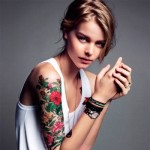 Flowers Arm Tattoos For Girls 150x150 - 100's of Girl Tattoo Design Ideas Picture Gallery