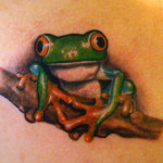 Frog Tattoos 1 150x150 - 100's of Frog Tattoo Design Ideas Picture Gallery