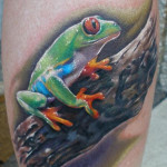 Frog Tattoos 10 150x150 - 100's of Frog Tattoo Design Ideas Picture Gallery