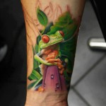 Frog Tattoos 8 150x150 - 100's of Frog Tattoo Design Ideas Picture Gallery