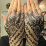 Hand Tattoos 14 150x150 - 100's of Hand Tattoo Design Ideas Picture Gallery