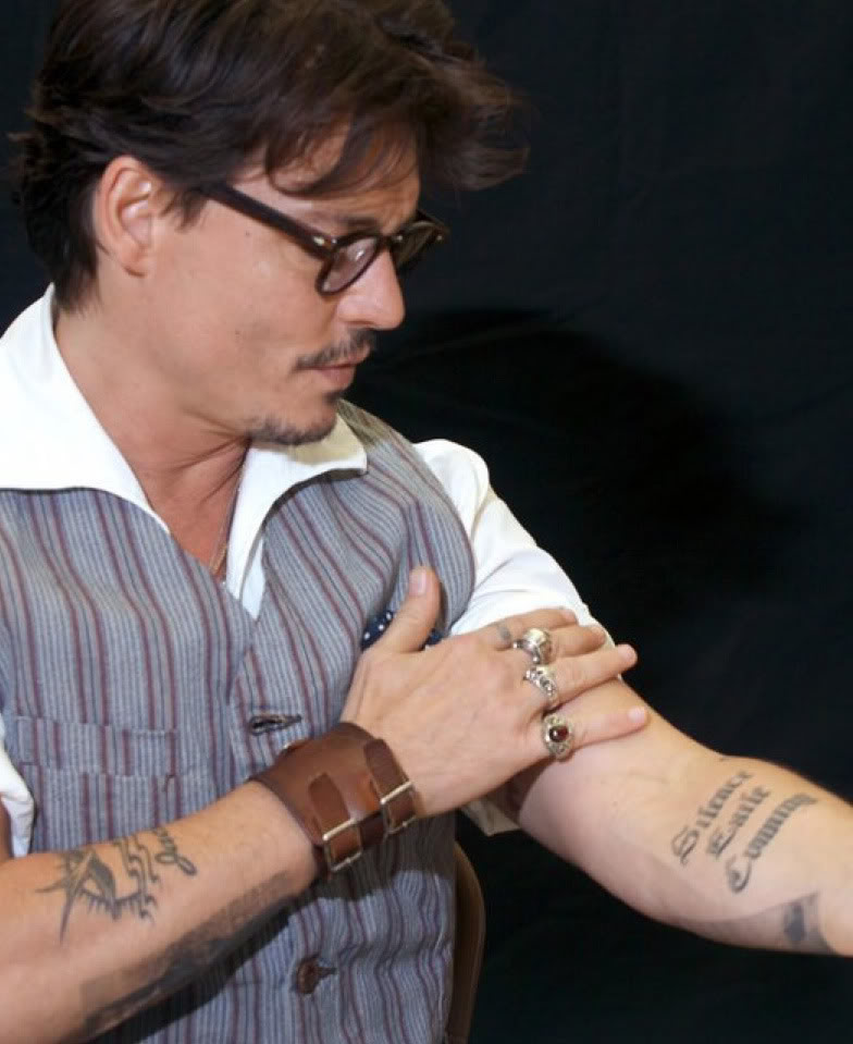 Tattoo Ideas Johnny: 100's Of Johnny Depp Tattoo Design Ideas Picture Gallery