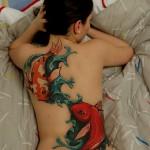 Koi Fish Tattoos 150x150 - 100's of Koi Tattoo Design Ideas Picture Gallery