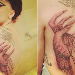 Lady Gaga Tattoos 6 150x150 - 100's of Lady Gaga Tattoo Design Ideas Picture Gallery